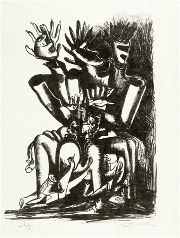 la forêt humaine portfolio of 10 wtitle pg by ossip zadkine