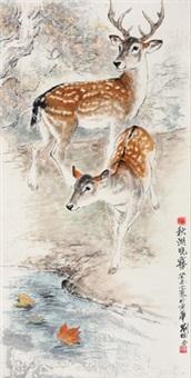 秋湖晓雾 by liu nan