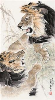 双狮 by liu nan