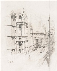collins street melbourne 1917 by lloyd frederic rees