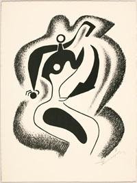 le sculpteur. rencontre (2 works) by alexander archipenko