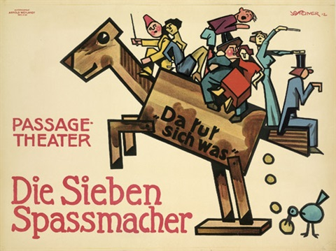 die sieben spassmacher passage theater by josef kamenitzky steiner