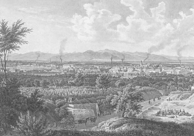 vue de la ville de mulhouse by engelmann
