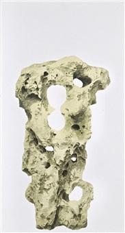 royal garden series: scholar's rock by cai xiaosong