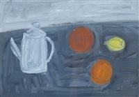 stillleben mit kanne und früchten by alexandre rochat