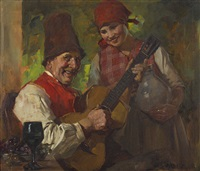 der gitarrenspieler by august roeseler