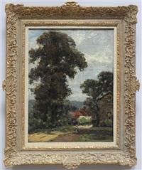 impressionistische ansicht eines dorfes by willem roelofs
