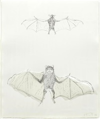 bats. squirrel (2 works) by kiki smith
