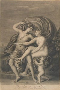 bacchus & ariadne (after titian) by john smith