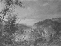 landschaft mit soldatenzug by max fuhrmann