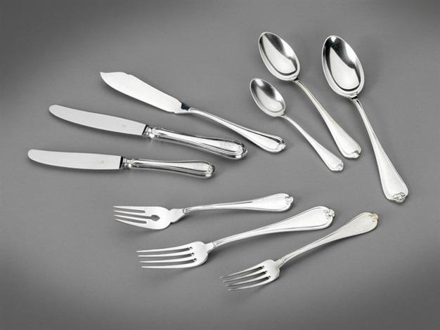tafelbesteck für zehn personen italien 20 jh