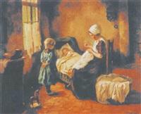 interieur mit mutter und kindern by johan hendrik kaemmerer
