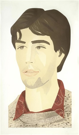 large head of vincent by alex katz