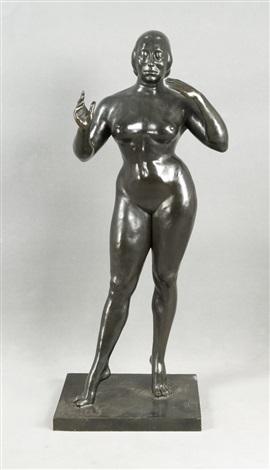 bronzeskulptur eines stehenden weibl aktes by gaston lachaise