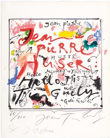 Jeanpierre Huser Et Jean Tinguely By Jeanpierre Huser And Jean Tinguely.