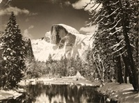 half dome; tuolumne meadow, yosemite national park (2 works) by ansel adams