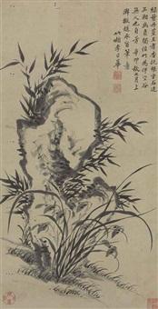 bamboo and orchids by li rihua