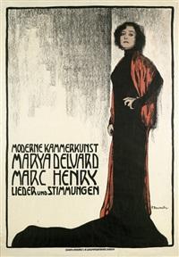moderne kammerkunst marya delvard, marc henry. lieder und stimmungen by fritz-friedrich boscovits