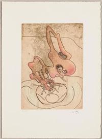 mots desserre-freins (portfolio of 6) by roberto matta