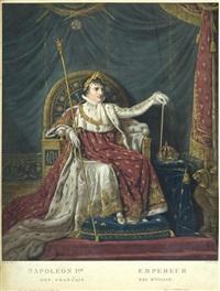 napoleon 1er empereur des français, roi d'italie (portrait von napoleon bonaparte im krönungsornat) (after a.s. garnerey) by pierre-michel alix