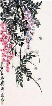 紫藤蜜蜂 by qi folai
