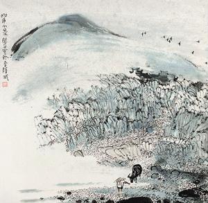 山乡小景 by zhu daoping