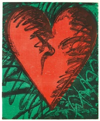 rachno woodcut heart by jim dine