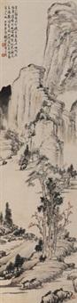 仿前人笔意 立轴 水墨纸本 by qian songyan