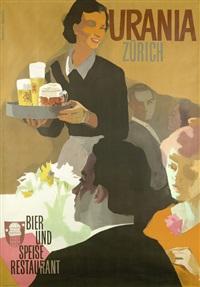 urania zürich. bier und speise restaurant by alfred koella