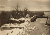 first frost, pl. xiv, from life and landscape on the norfolk broads by peter henry emerson