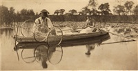 setting the bow-net, pl. ii, from life and landscape on the norfolk broads by peter henry emerson