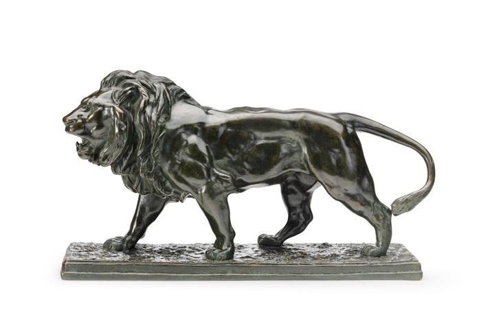 schreitender löwe by antoine louis barye