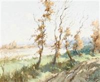 sonnige auenlandschaft im herbst by carlos augusto ramos
