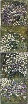 crocus (quadriptych) by ewa senczawa