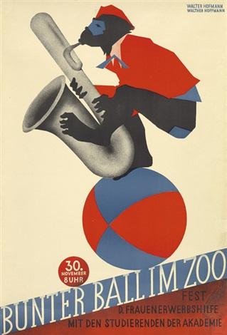 bunter ball im zoo by walter hofmann