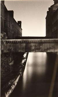 mill bridge, saltaire, yorshire, england by michael kenna