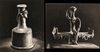 selected images of minoan artifacts (2 works) by andré kertész
