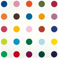 bromobenzotrifluride (from woodcut spots) by damien hirst
