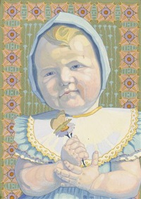 kleines mädchen mit blume by jean philippe edouard robert
