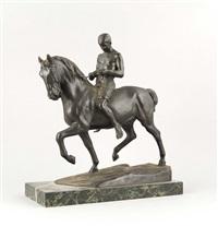 junger reiter zu pferde by rudolf kaesbach