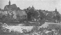 ansicht von neuburg and der donau by hans müller-schnuttenbach