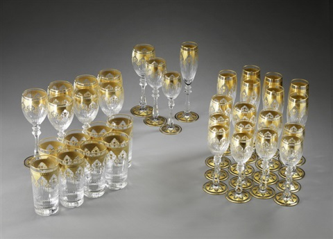 ensemble von baccarat gläsern set of 36 by baccarat