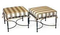 square ottomans (set of 4) by thomas bartlett