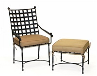 an armchair with ottoman (set of 2) by thomas bartlett