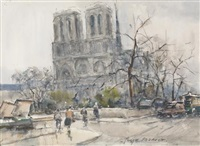 ansicht von notre-dame de paris by georges dominique rouault