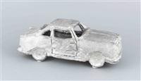 automobil, hartblei, vollplastisch modelliert by stephan balkenhol