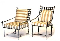 low armchairs (pair) by thomas bartlett