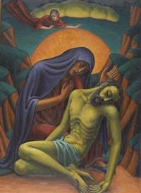 trauernde maria mit jesus nach der kreuzabnahme by leo steck