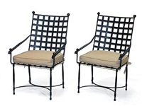 garden armchairs (pair) by thomas bartlett