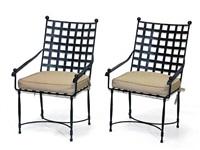 garden armchairs (pair) by thomas bartlett